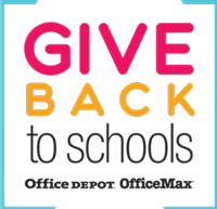 Give Back to Schoold program Office Depot OfficeMax