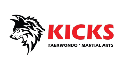 Kicks Tae Kwon Do logo (martial arts - wolf)